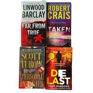 4 Paperback Novels by Various Authors